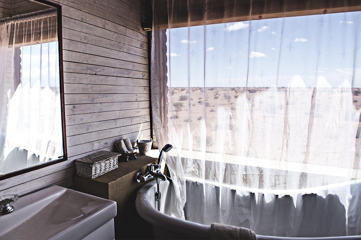 Badezimmer mit Aussicht