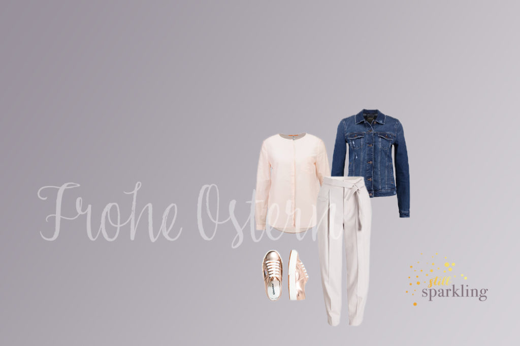 Jeansjacke und Pastelltöne