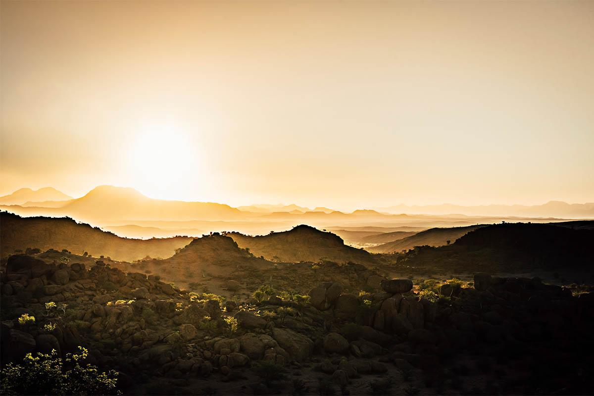 Der spektakulärste Sonnenuntergang unserer Namibia Rundreise