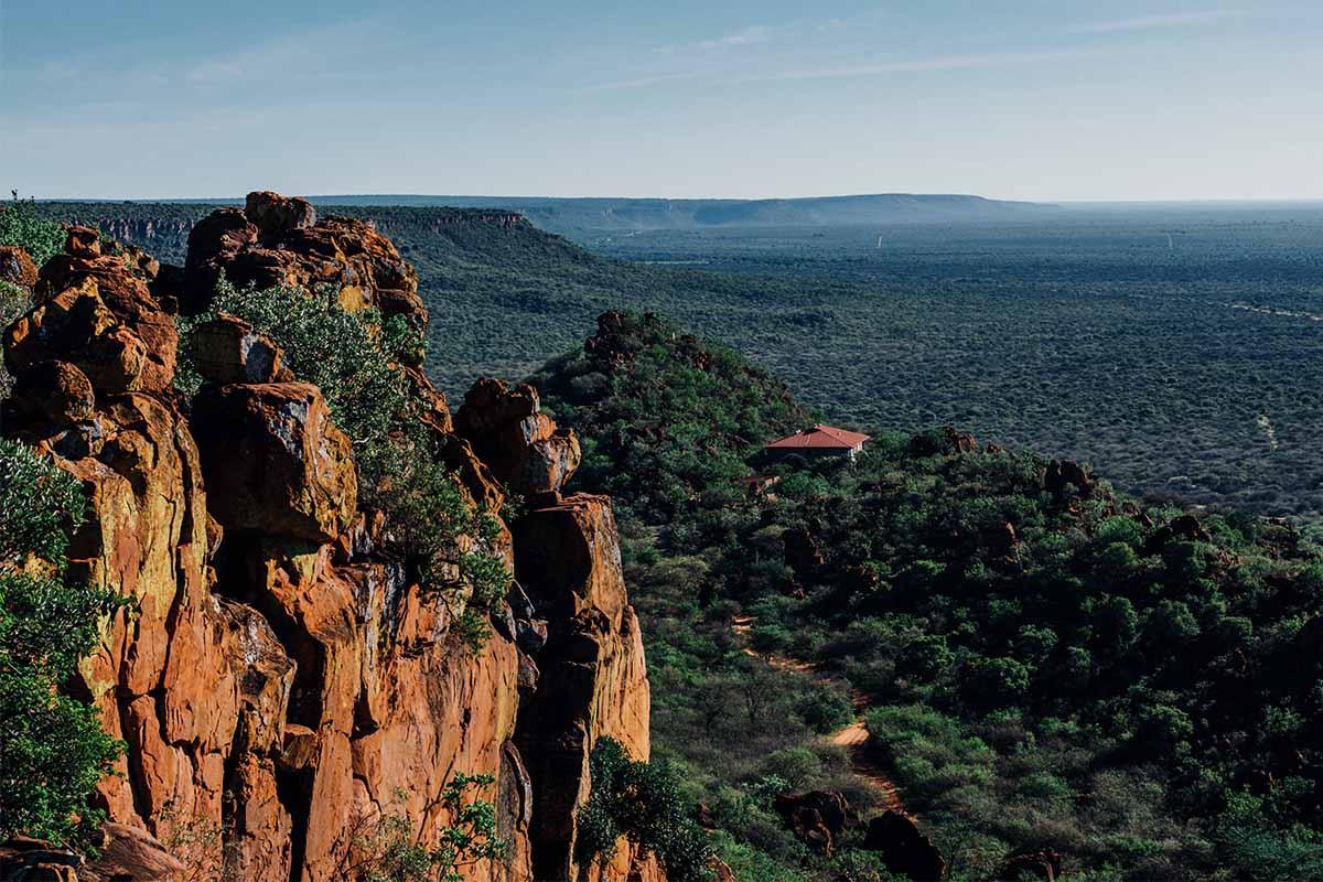 Blick auf die Waterberg Plateau Lodge