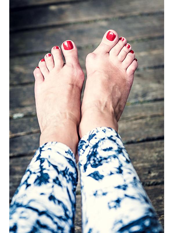 Füße hässlich