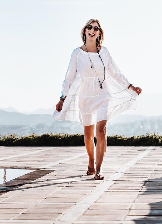 Weißes Leinen_Sommerkleid