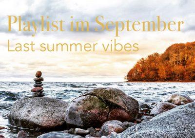 Playlist im September – last summer vibes
