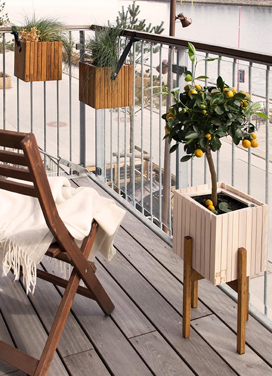 Balkon und Terrasse