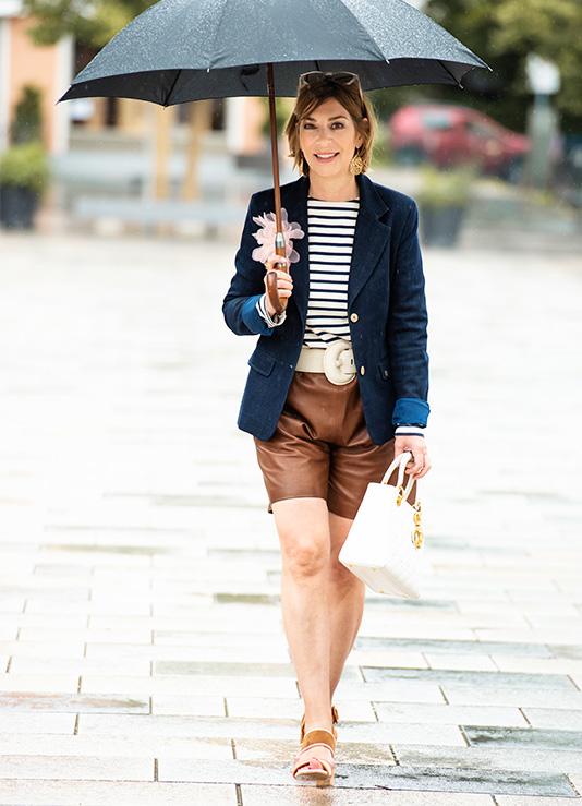 Bermuda Shorts aus Leder